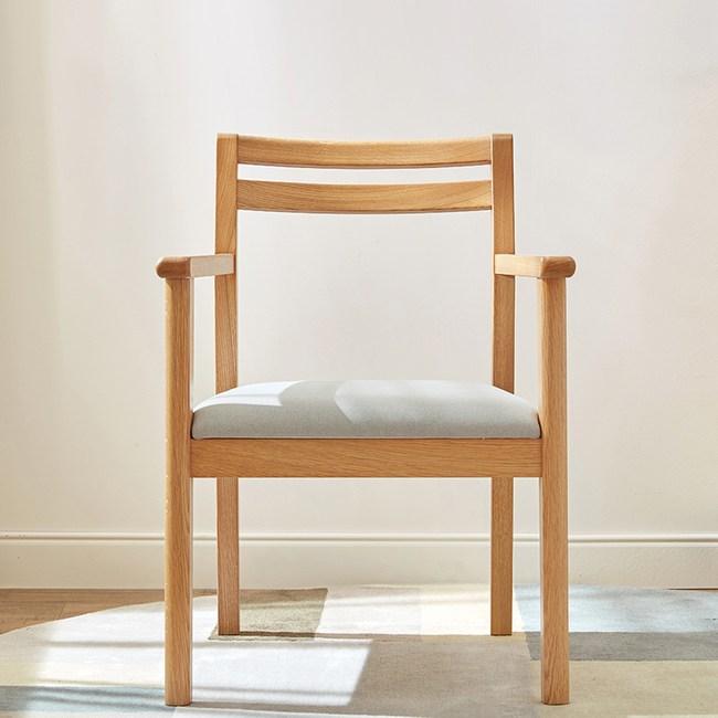 林氏木業北歐自然白橡木書桌椅BH5W-C原木色