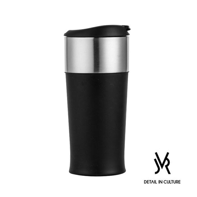 JVR韓國原裝MARTIN POP不鏽鋼馬丁翻蓋隨行杯350ml-3色黑色