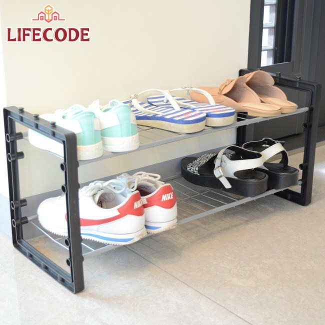 LIFECODE《休斯》可疊加-雙層鞋架