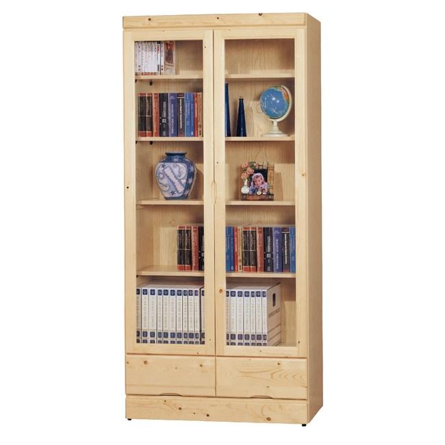 【YFS】安格斯松木3X6尺下抽書櫃-81x33x180cm