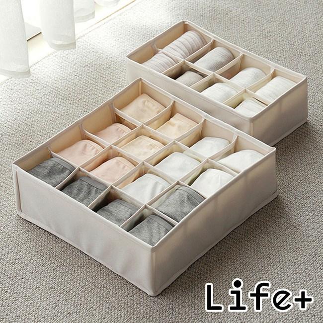 Life Plus 原色無蓋多格收納盒 (8格+16格)