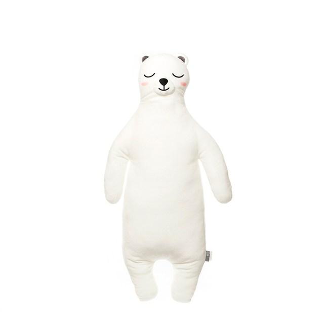 HOLA 彈力超柔造型抱枕40x87cm 北極熊