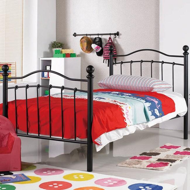 【obis】凱特兒3.5尺鐵床床台黑色