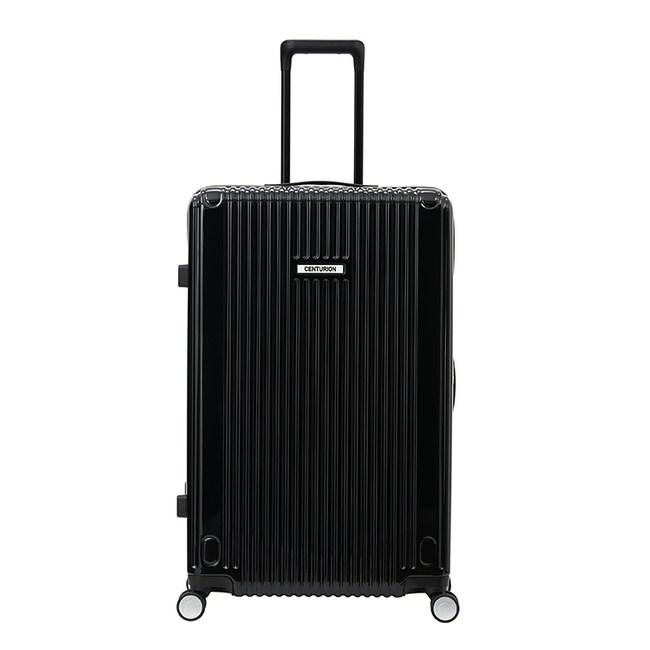 【CENTURION百夫長】拉鍊款20吋U_S_LGA拉瓜地亞黑行李箱