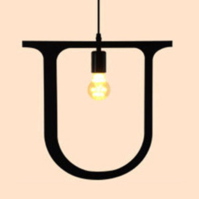 HONEY COMB 復古風英文字母吊燈 U版 TA0080