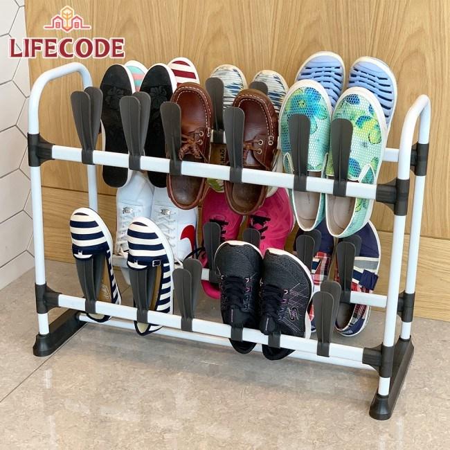 LIFECODE《瑞克斯》雙排雙層鞋架(可放24雙鞋)