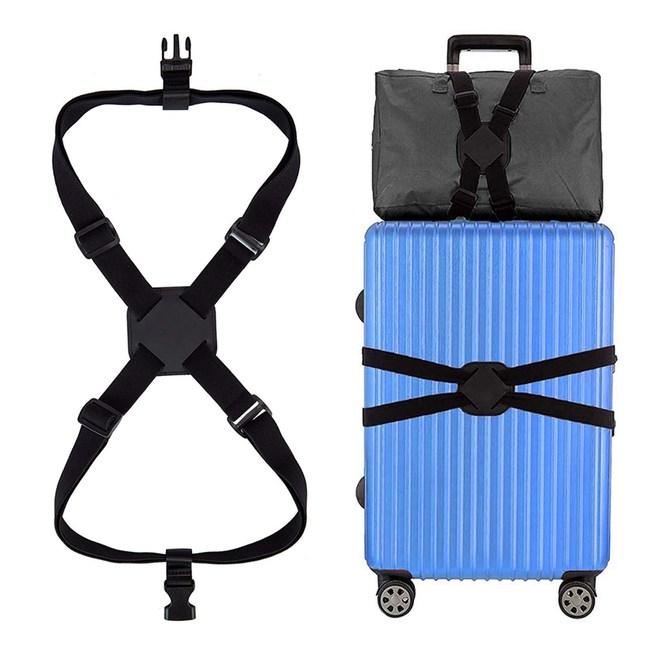 行李箱彈力束帶 旅行箱打包帶 彈力捆綁帶(黑色)單一規格