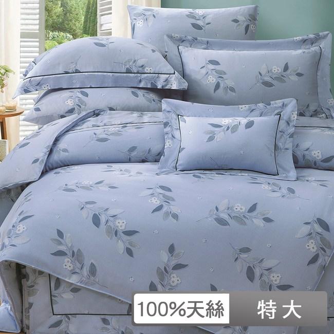 【貝兒居家寢飾生活館】裸睡系列60支天絲兩用被床包組(特大/芮薇絲)