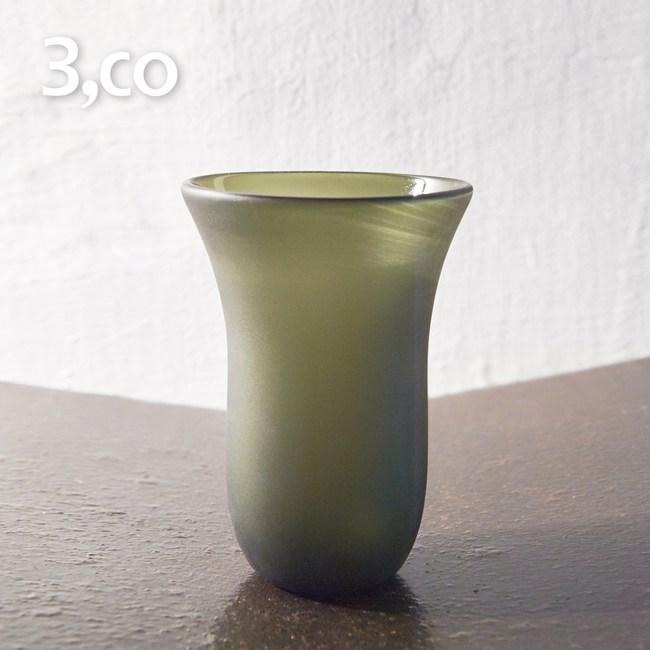 【3,co】手工彩色玻璃杯(大) - 綠