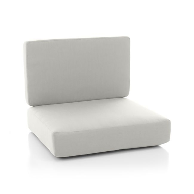 Crate&Barrel Morocco 戶外休閒椅椅墊 白色 2入
