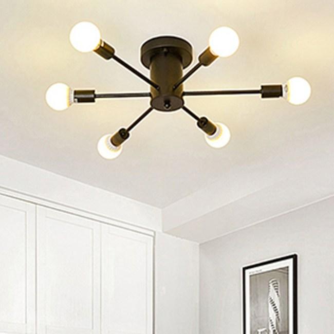 HONEY COMB 工業風高工藝吸頂燈 雙色款 6光源 黑色 TA8020