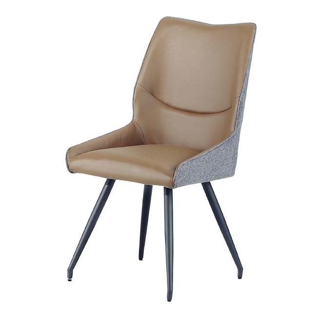 【YFS】休伯特駝色餐椅-50x64x84cm