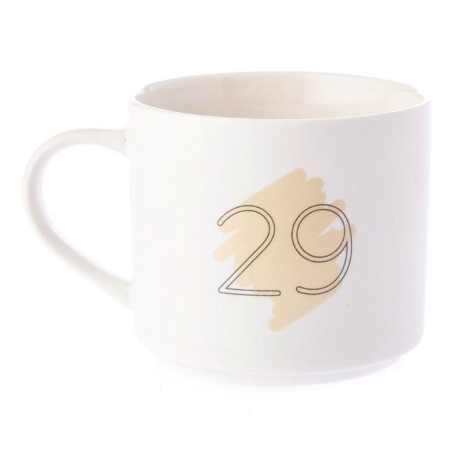 HOLA 數字馬克杯 29號 380ml 29th twenty-ninth