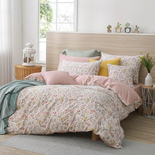 MONTAGUT-碎花紛飛-100%純棉-兩用被床包組(雙人)