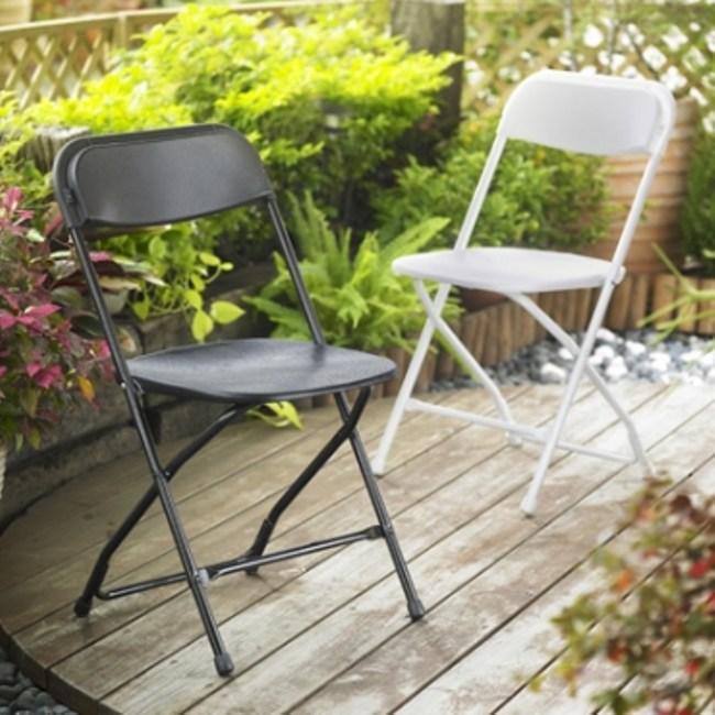 耐衝擊戶外折疊椅 (白) -1入