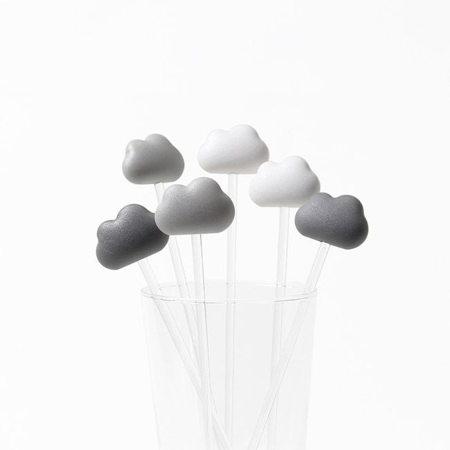 QUALY|朵朵雲兒攪拌棒-白灰