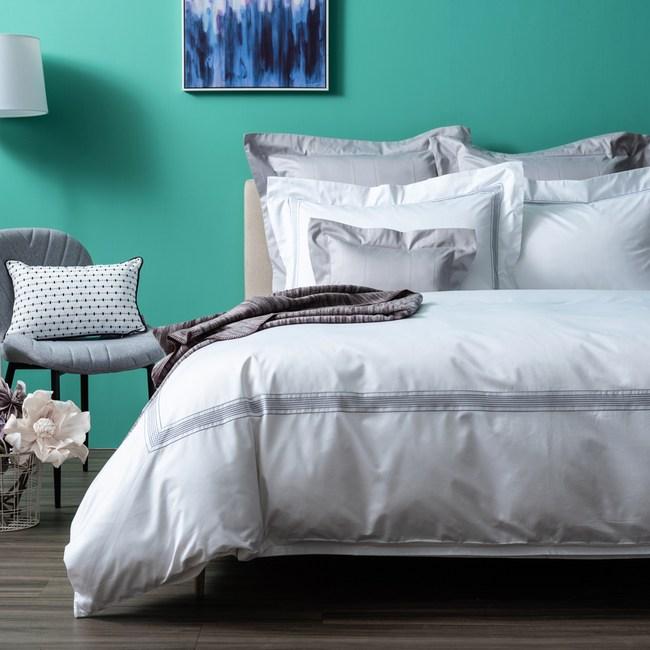(組)義式孟斐斯埃及棉床被組白雙人