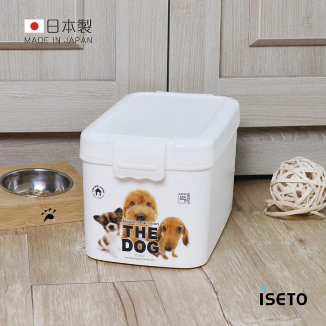 【日本ISETO】日製寵物飼料零食密封收納桶-7L  犬