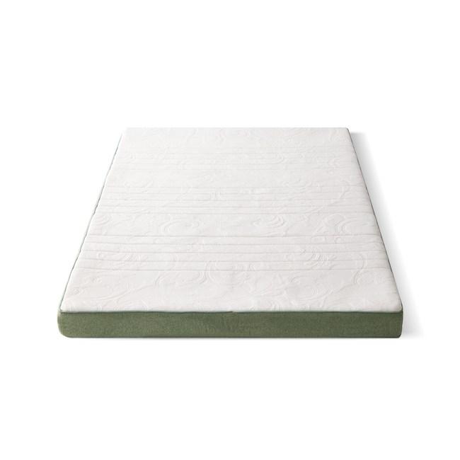 源氏木語兒童可拆洗防螨乳膠山棕釋壓床墊4尺/100x200x15cm J47綠