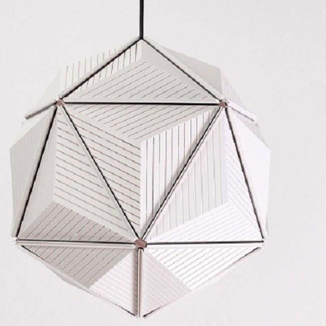 QUALY|三角幾何-燈罩(白)