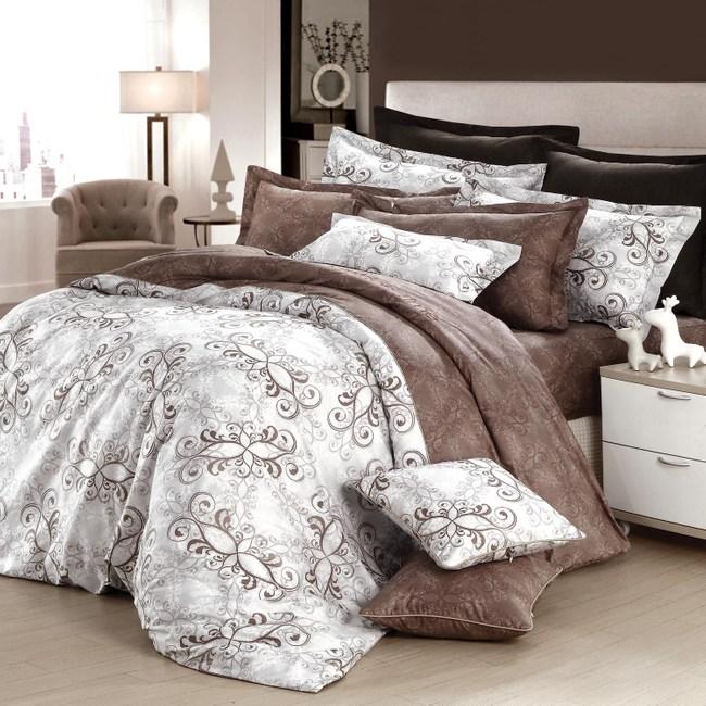 GOLDEN-TIME-歐系皇殿-200織精梳棉兩用被床包組(加大)