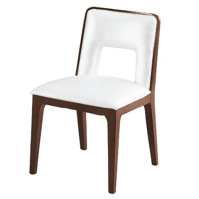 【YFS】比其爾皮面餐椅-46x47x81cm(兩色可選)白皮