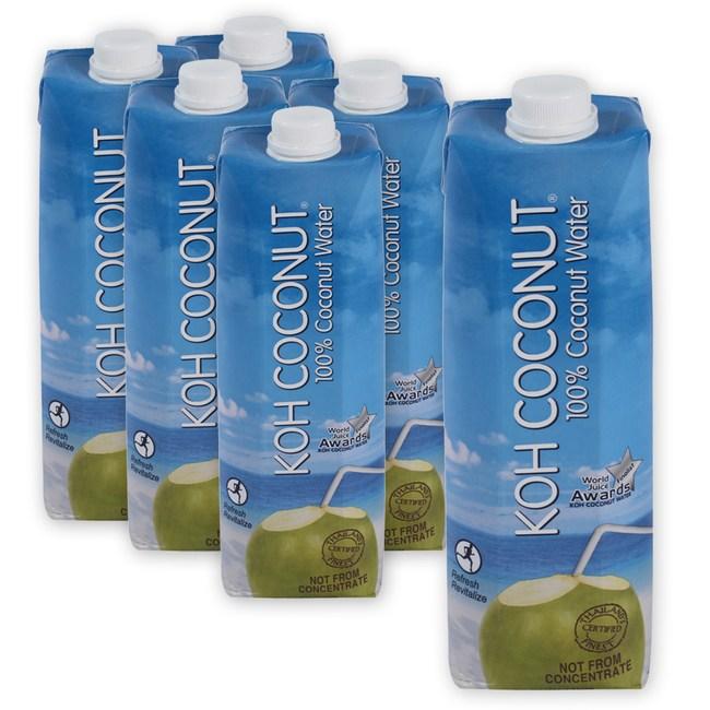 (組)KOH 100%純椰子汁1000ml 6入組