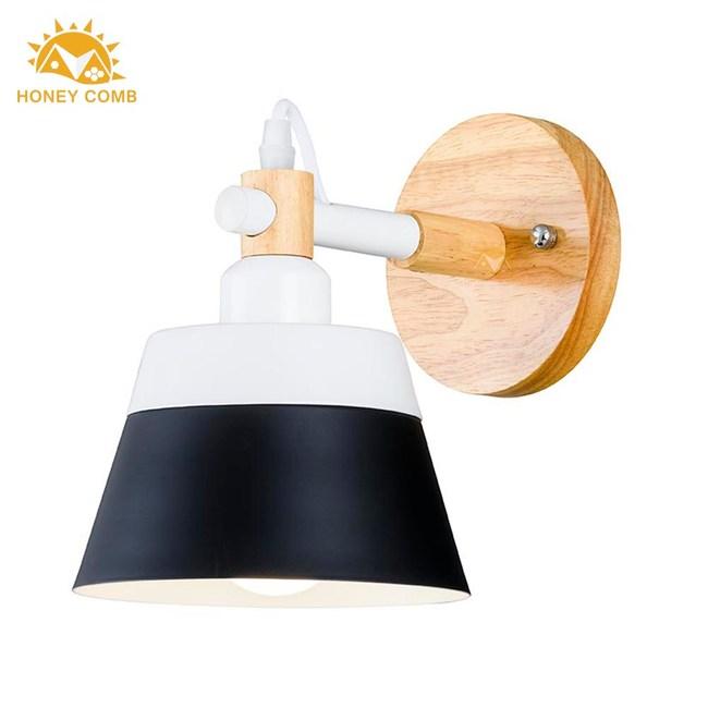 HONEY COMB 造型布丁木底壁燈 BL-12424 黑色