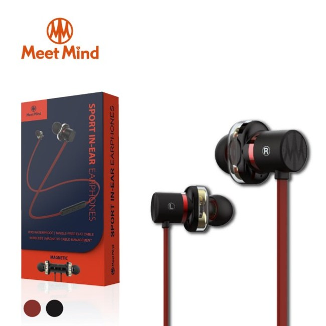 Meet Mind M301 石墨烯4核雙動圈立體聲藍芽耳機 紅