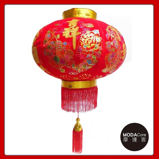 【摩達客】農曆春節元宵 60cm吉祥大福發財大紅燈籠 單入