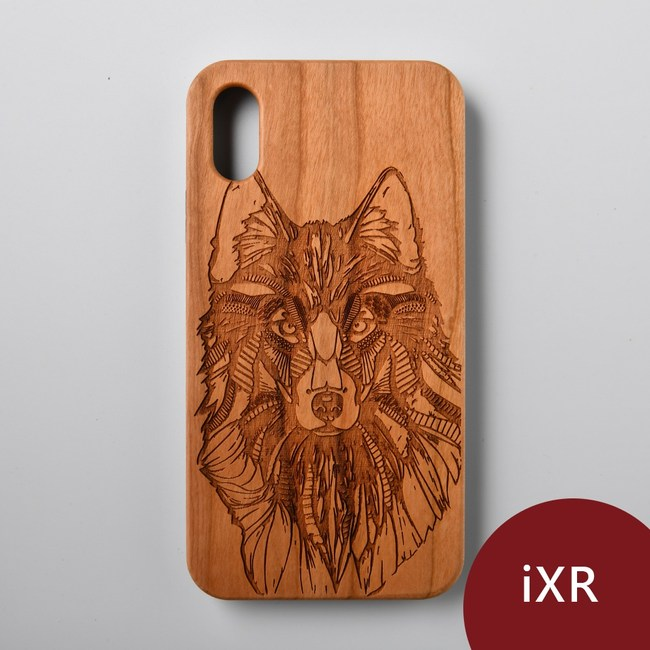 Woodu 木製手機殼 冰原狼 iPhone XR適用