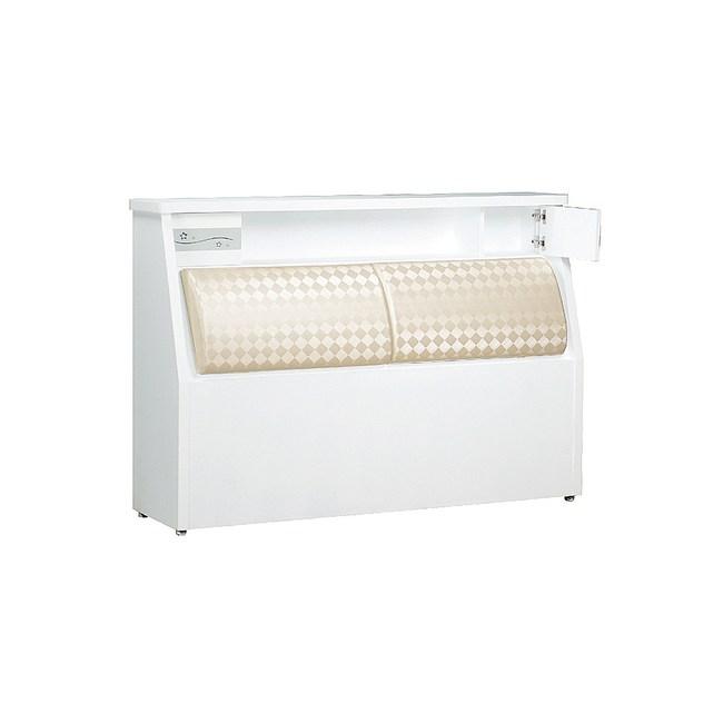【YFS】巴德6尺白色床頭箱-183x30.5x93.5cm