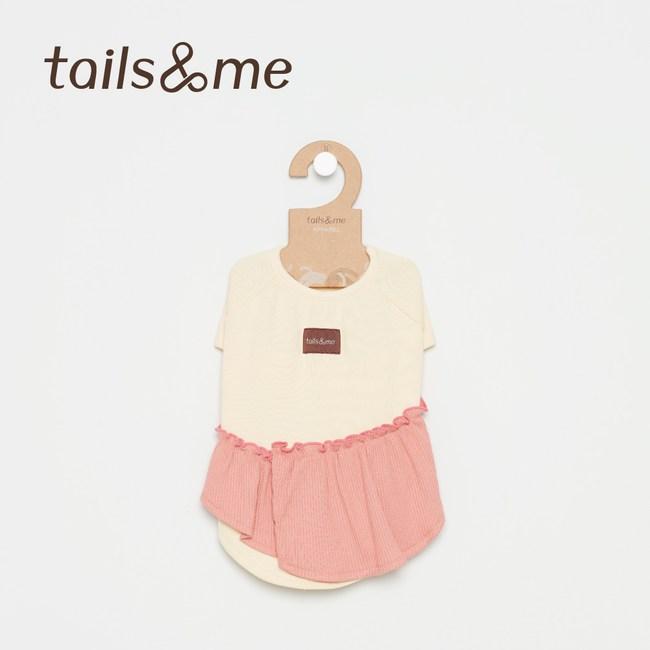 Tails&Me 尾巴與我-荷葉邊上衣(XS)黃粉