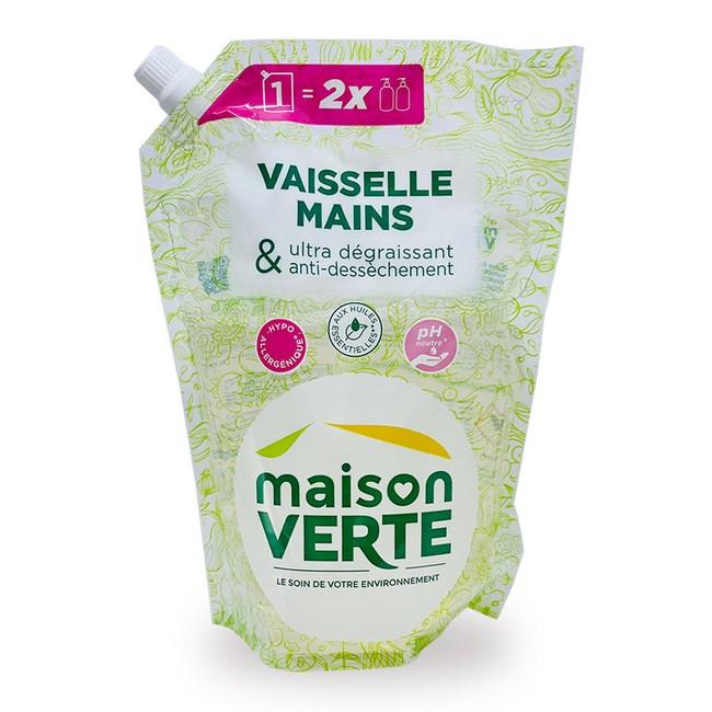 法國綠墅Maison Verte洗手乳補充包1L-2入組