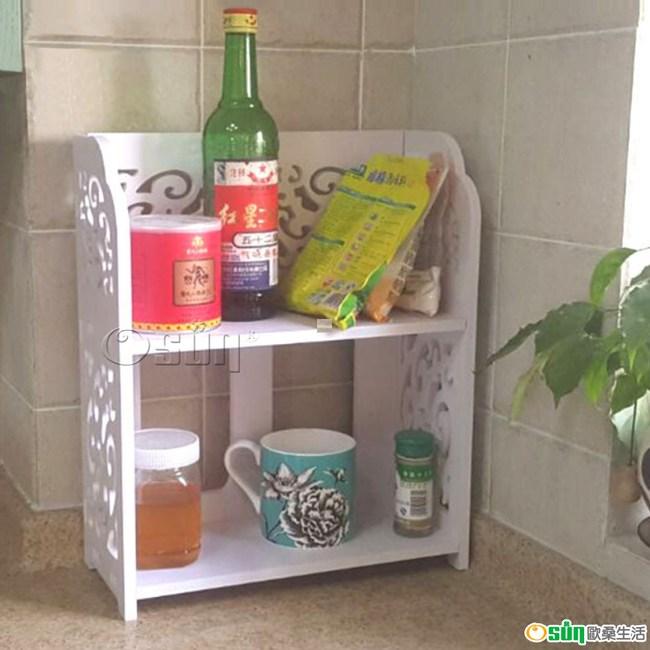 【Osun】DIY木塑板 多功能廚房收納架(KC02)