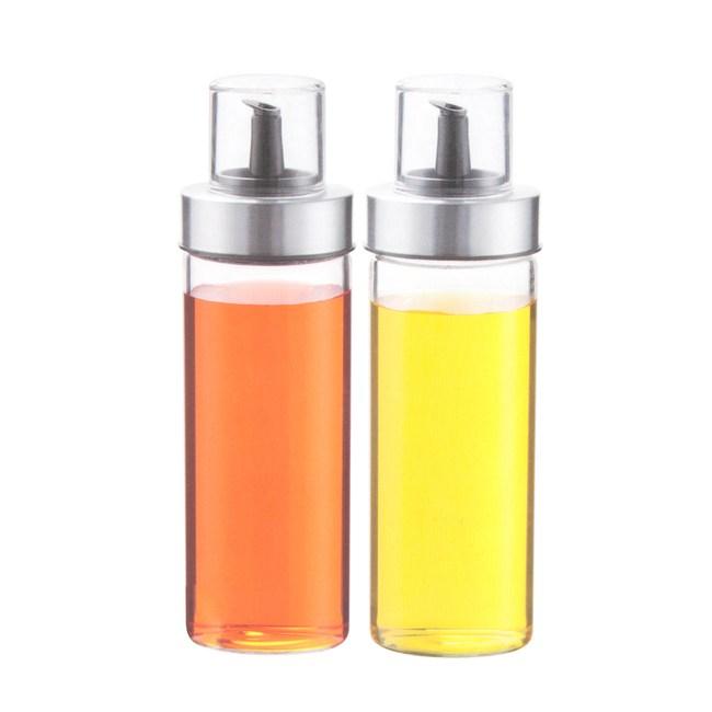玻璃調味油瓶二入組-180ml