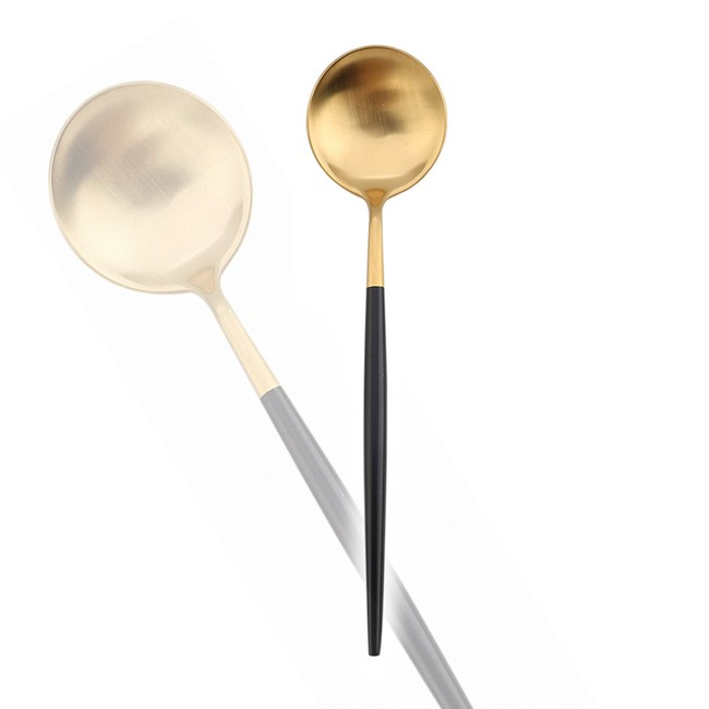 【Royal Duke】葡萄牙同款餐匙-黑金色(SGS認證)