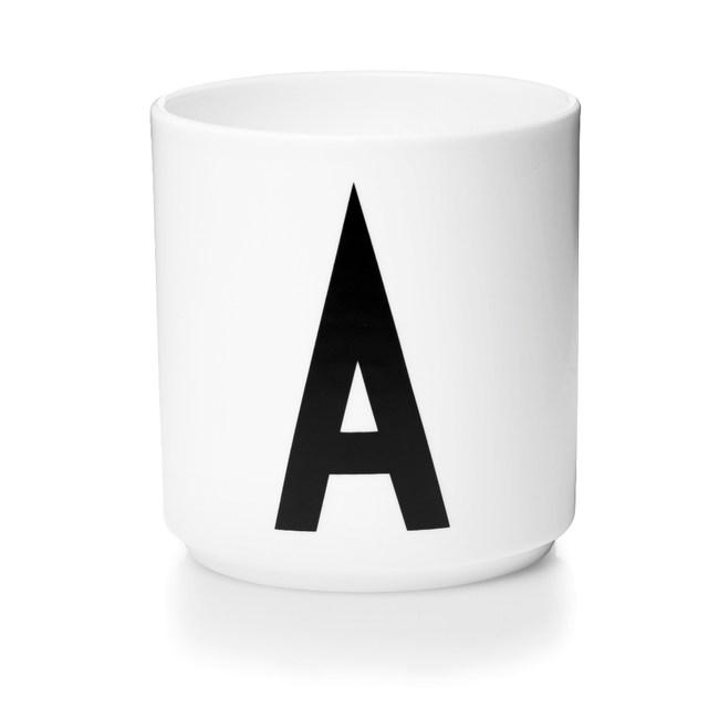 Design Letters 字母骨瓷杯白 A