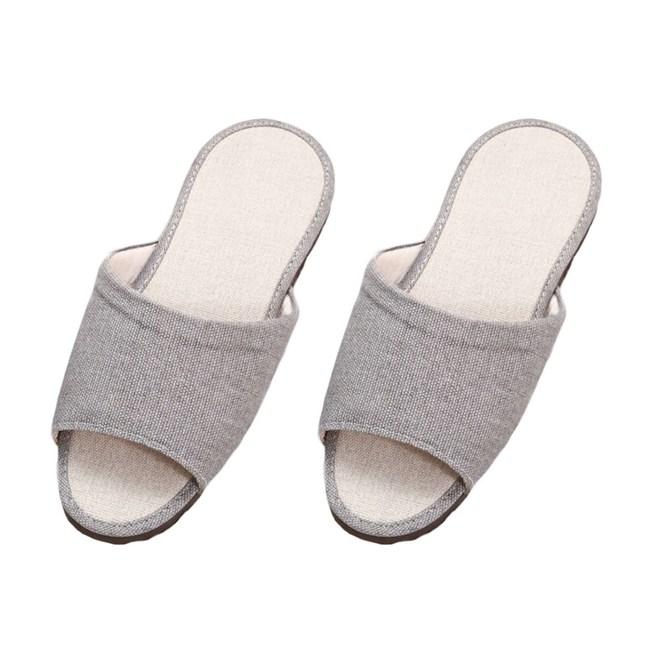 品味室內仿皮拖鞋-灰M