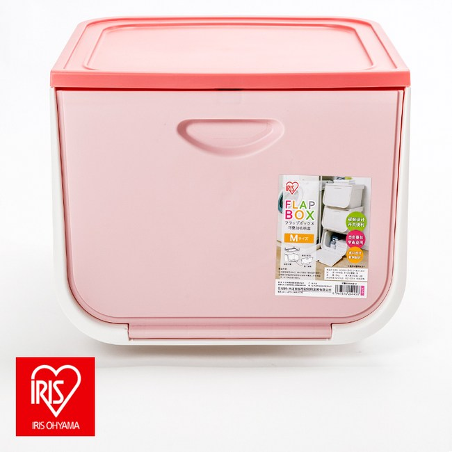 日本 IRIS 磁吸式整理箱 FLP-M 粉色款 20L
