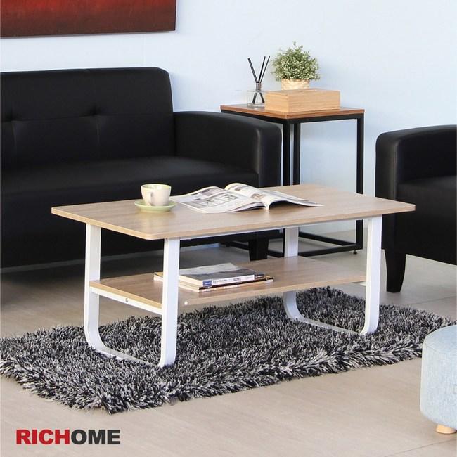 【RICHOME】米蘭現代茶几桌(2色)白橡木色