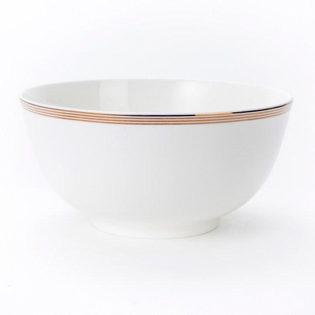 HOLA 緻金骨瓷麵碗 20cm 迴圈 可適用微波爐及洗碗機