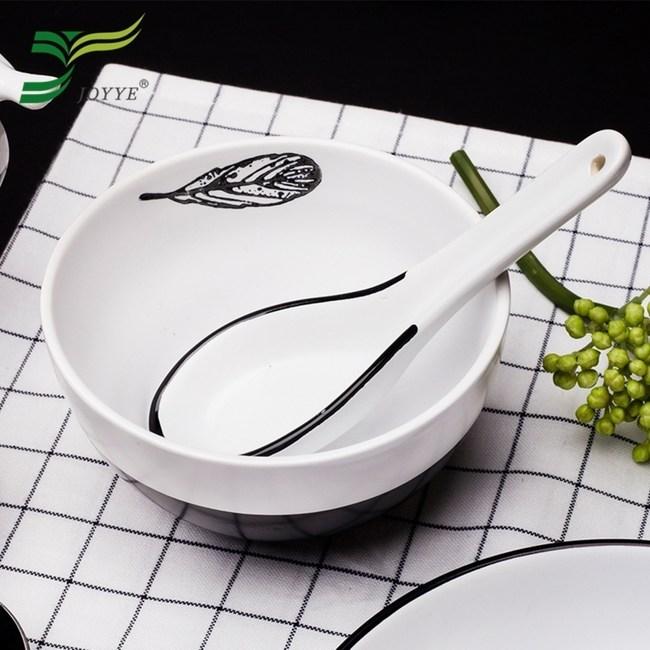 【JOYYE陶瓷餐具】小鳥依偎圓碗(一套2件)