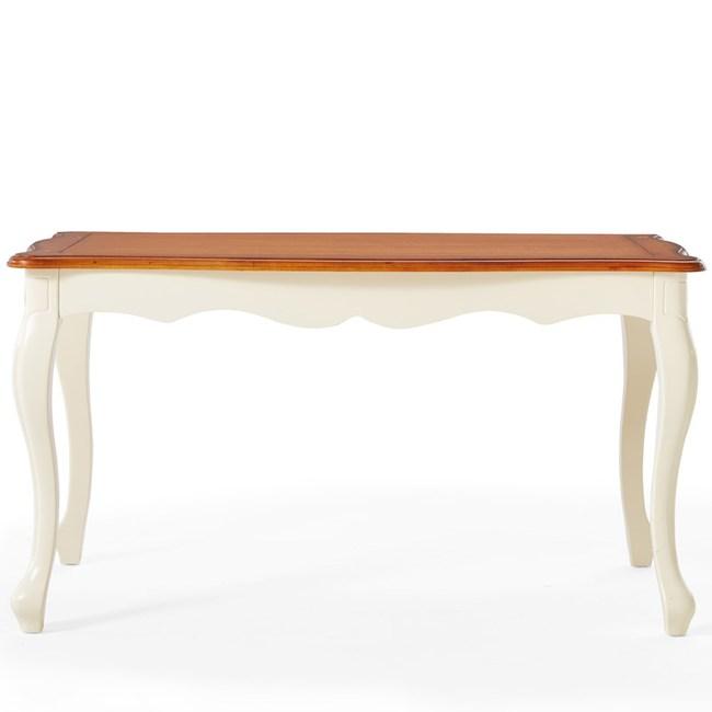林氏木業美式小戶型長型餐桌 1.4M LSN1R-紅棕+米黃色