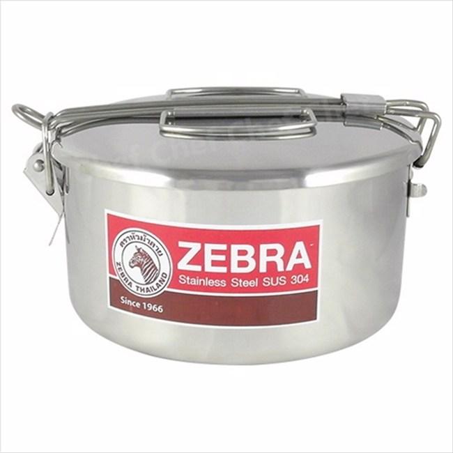 ZEBRA斑馬牌兩用圓型便當盒14cm附菜盆外蓋卡榫提把設計