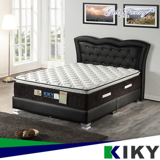 【KIKY】姬梵妮 二代永恆之星蠶絲抗敏硬式彈簧床墊(雙人加大6尺)