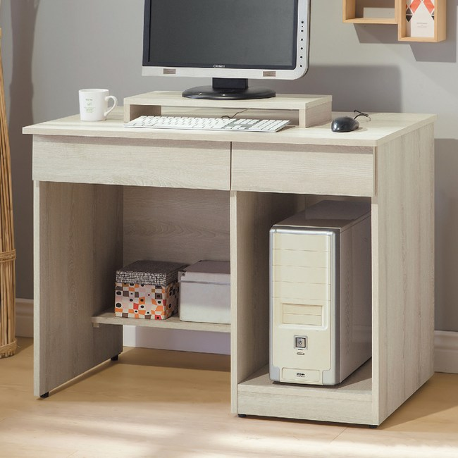 【YFS】愛琳3.2尺電腦桌-97x53x76cm(含鍵盤架)