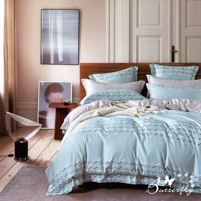 【BUTTERFLY】MIT-3M專利+頂級天絲-加大雙人薄床包枕套組-流光