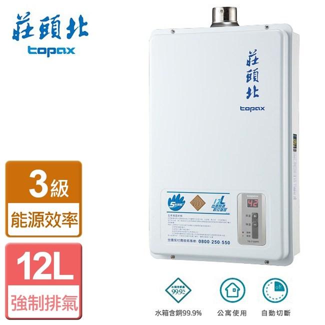 【莊頭北】屋內數位恆溫強制排氣熱水器12L-TH-7126FE-桶裝桶裝