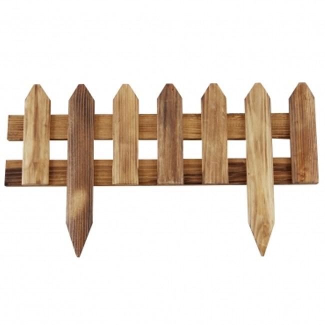 尖頭插地圍籬-燻木色